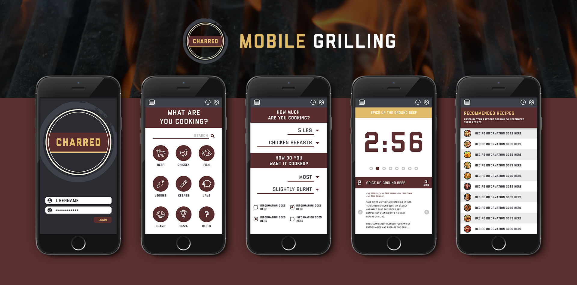 Charred Mobile App
