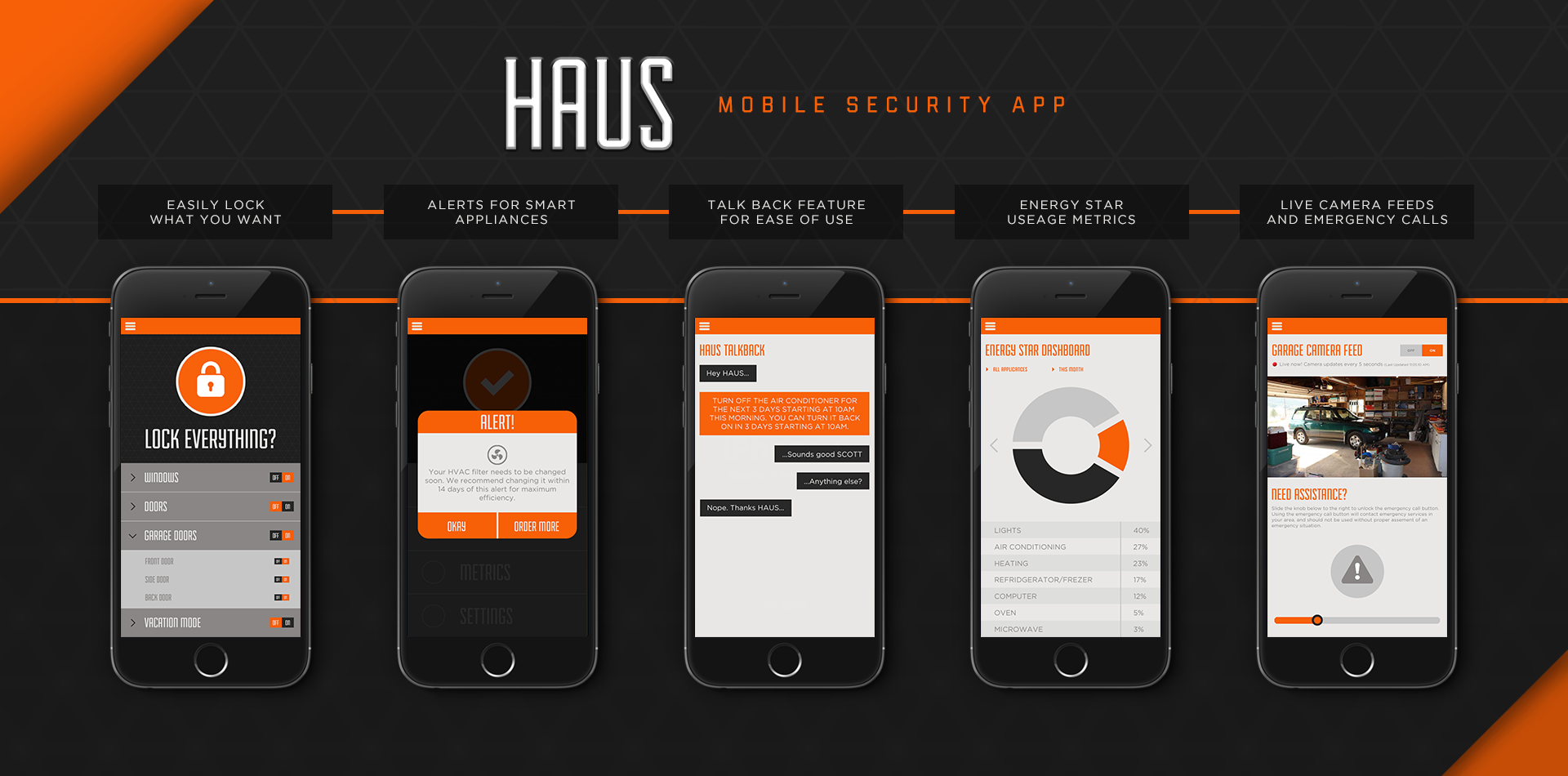 haus mobile app ui ux design. Black Bedroom Furniture Sets. Home Design Ideas